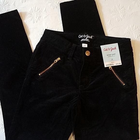 e840e2b998f Cat   Jack Girls Black Velvet Skinny Pants